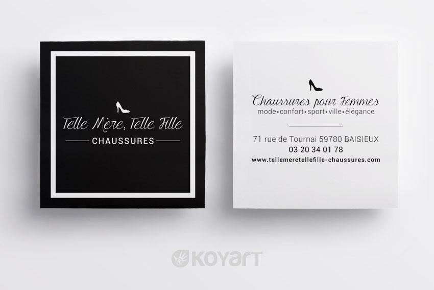Creation Carte De Visite Boutique Chaussures