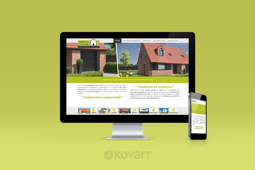 Cr ation de site internet constructeur de maison car ver for Site de conception de maison